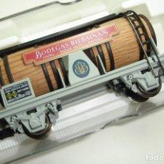 Trenes Escala: VAGON CUBAS BODEGAS BILBAINAS ELECTROTREN HO REF 0824. Lote 181324571