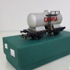 Trenes Escala: VAGÓN CISTERNA CAMPSA ESPAÑOL ELECTROTREN ANTIGUO 10 CMS. Lote 181578071