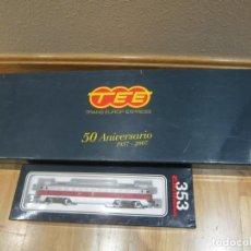 Trenes Escala: ELECTROTREN TALGO III RD 50 ANIVERSARIO H0 1:87 + LOCOMOTORA RENFE 353-005 AC DIGITAL. Lote 182725987
