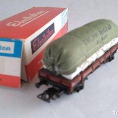 Trenes Escala: ELECTROTREN H0 VAGÓN TRANSPORTES SACOS TOLDOS ROLDAN, NUEVO EN CAJA. Lote 183527996
