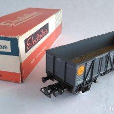 Trenes Escala: ELECTROTREN H0 VAGÓN MERCANCÍAS, NUEVO EN CAJA. Lote 183528217