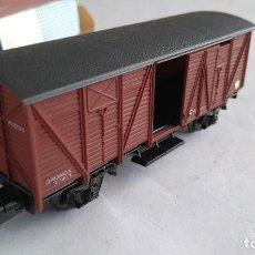 Trenes Escala: ELECTROTREN H0 VAGÓN MERCANCÍAS, NUEVO EN CAJA. Lote 183528303
