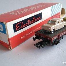 Trenes Escala: ELECTROTREN H0 VAGÓN PORTA COCHES, NUEVO EN CAJA. Lote 183528516