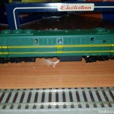Trenes Escala: ELECTROTREN HO LOCOMOTORA DIESEL RENFE 333 VERDE DIGITAL. Lote 183879747