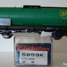 Trenes Escala: ELECTROTREN VAGON CISTERNA BP DE LA DB REF: 5859 ESCALA HO. Lote 236211450