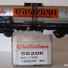 Trenes Escala: ELECTROTREN VAGON CISTERNA CASTELVIN DE LA SNCF REF: 5820 ESCALA HO. Lote 245383915