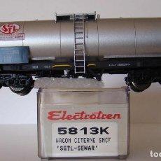 Trenes Escala: ELECTROTREN VAGON CISTERNA SGTL-SEWAR DE LA SNCF REF: 5813 ESCALA HO. Lote 184028925