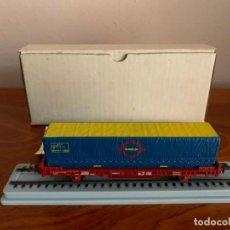 Trenes Escala: ELECTROTREN H0 VAGON TRANSFESA NAVIDAD 1980. Lote 185864890