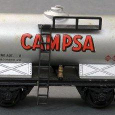 Trenes Escala: VAGÓN CAMPSA ELECTROTREN H0 CISTERNA CON GARITA. Lote 188573123