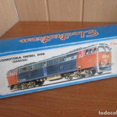 Trenes Escala: TREN: LOCOMOTORA DIESEL DSB DANESA DE ELECTROTREN REF. 2070 CORRIENTE CONTINUA ( EN CAJA). Lote 189462992