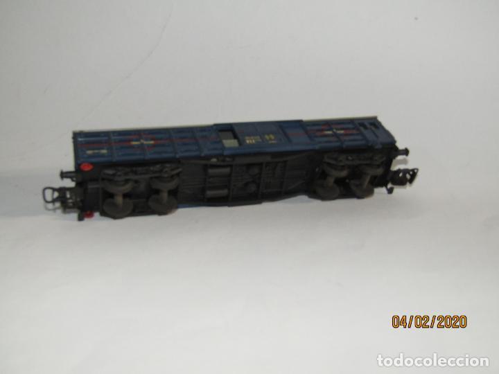 Trenes Escala: Antiguo Vagón Jaula Transporte de Ganado 4 Ejes TRANSFESA en Escala *H0* de ELECTROTREN - Foto 4 - 192964090
