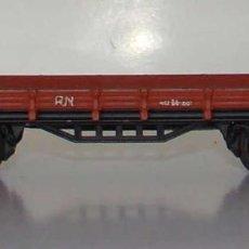 Treni in Scala: ELECTROTREN VAGON PLATAFORMA RENFE ROJO OXIDO ESCALA H0. Lote 194950830