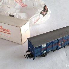 Comboios Escala: ELECTROTREN H0 VAGÓN CARGA CERRADO TRANSFESA, REF 1306. NUEVO, EN CAJA. TENGO 6 UNIDADES. Lote 194967250