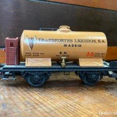 Trenes Escala: ELECTROTREN - VAGON CISTERNA TRANSPORTES LIQUIDOS SA MADRID ESCALA H0 . Lote 195679280