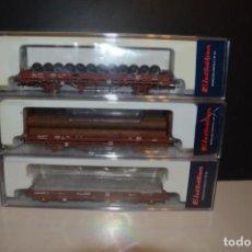 Trenes Escala: PACK TRES PLATAFORMAS ELECTROTREN. Lote 199245307