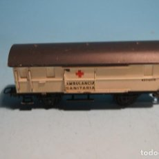 Trenes Escala: VAGON ELECTROTREN AMBULANCIA SANITARIA HOJALATA H0. Lote 199484103