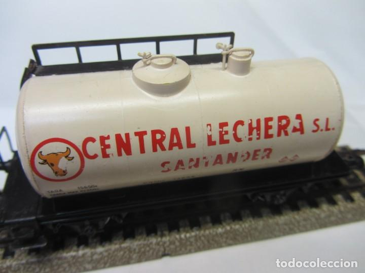 VAGÓN CISTERNA CENTRAL LECHERA SANTANDER. ELECTROTREN HO (Juguetes - Trenes Escala H0 - Electrotren)
