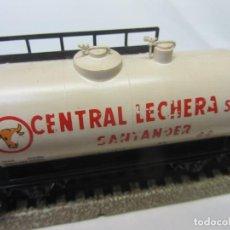 Trenes Escala: VAGÓN CISTERNA CENTRAL LECHERA SANTANDER. ELECTROTREN HO. Lote 200302188