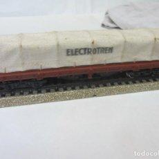 Comboios Escala: VAGÓN BORDE BAJO CON TOLDO. ELECTROTREN HO. Lote 200303243