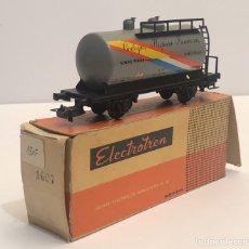 Trenes Escala: ELECTROTREN H0 1607- CISTERNA GRANDE 'BODEGA HISPANO FRANCÉS' RENFE. Lote 200817516