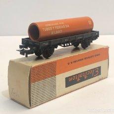 Trenes Escala: ELECTROTREN H0 1000/2 - PLATAFORMA CON TUBO 'TUBOS Y FORJAS' RENFE. Lote 200818908