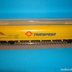 Trenes Escala: VAGÓN ELECTROTREN TOLVA TRANSPORTE DE CEREALES TRANSFESA HO H0 1:87 RENFE DESCATALOGADO. Lote 201825700