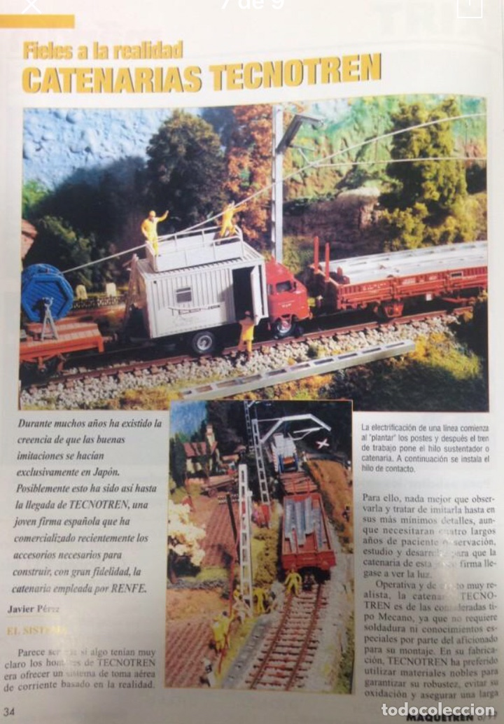Trenes Escala: Catenaria Tecnotren H0, 5 postes ménsula corta - Foto 2 - 210935372