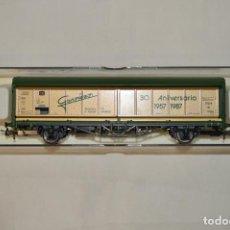 Trenes Escala: VAGÓN MERCANCÍAS CERRADO DE LA DB GONZÁLEZ. 30 ANIVERSARIO. ESC. H0. ELECTROTREN. ROMANJUGUETESYMAS.. Lote 202543370