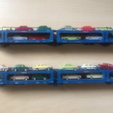Comboios Escala: PACK 2 VAGONES ELECTROTREN REF: 6002 PORTACOCHES TRANSFESA H0. Lote 206552420