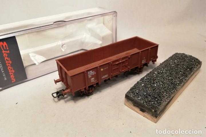Trenes Escala: ELECTROTREN 0603. Escala H0. Vagon abierto ELOS Renfe con carga artesanal. 513-3141-9 - Foto 2 - 206750237