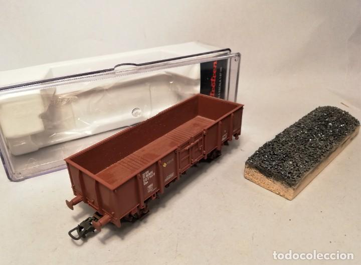 Trenes Escala: ELECTROTREN #0603. Escala H0. Vagon abierto ELOS Renfe con carga artesanal. 513-3141-9 - Foto 2 - 206750262