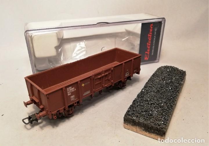 Trenes Escala: ELECTROTREN #0603. Escala H0. Vagon abierto ELOS Renfe con carga artesanal. #513-3141-9 - Foto 2 - 206750330
