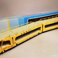Trenes Escala: ELECTROTREN 6003. ESCALA H0. VAGÓN PORTACOCHES SEMAT. Lote 206855030