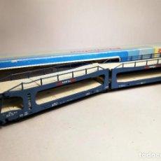 Trenes Escala: ELECTROTREN 6002 ESCALA H0. VAGON PORTACOCHES TRANSFESA.. Lote 206877666
