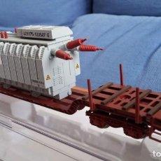 Trenes Escala: ELECTROTREN 5189. PLATAFORMA BOGIES TRANSPORTES ESPECIALES CON TRANSFORMADOR ELÉCTRICO. Lote 209872555