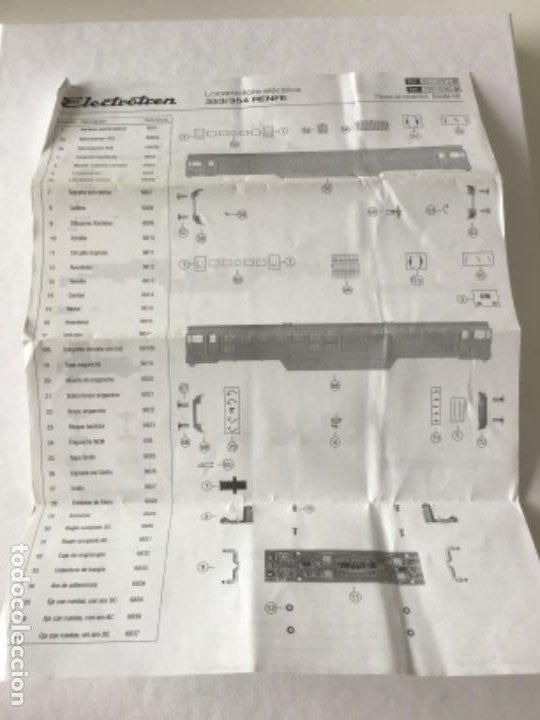 Trenes Escala: H0 Electrotren Locomotora Diésel Renfe 333. Ref. 2020. Años 70. Muy buen estado - Foto 11 - 210132453
