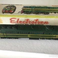Trenes Escala: H0 ELECTROTREN LOCOMOTORA DIÉSEL RENFE 333. REF. 2020. AÑOS 70. MUY BUEN ESTADO. Lote 210132453