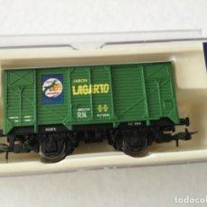 Trenes Escala: ELECTROTREN H0. VAGÓN MERCANCÍAS JABÓN LAGARTO.REF.1934 SIN ESTRENAR.. Lote 210485565