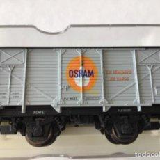 Trenes Escala: ELECTROTREN H0. VAGÓN OSRAM. REF. 1958. DE VITRINA.. Lote 210486216