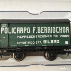 Trenes Escala: ELECTROTREN H0. VAGÓN POLICARPO F. BERRIOCHOA. ED. LIMITADA. REF E012. DE VITRINA. Lote 210486758