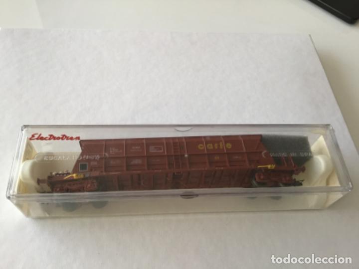 Trenes Escala: Electrotren H0. Vagón tolva carbón CARFE. 4 ejes. Precioso, nuevo. - Foto 10 - 210490735