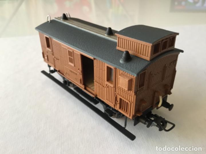 Trenes Escala: Electrotren H0 Vagón madera equipajes ref 0856. De vitrina. - Foto 2 - 210517647