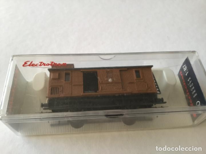 Trenes Escala: Electrotren H0 Vagón madera equipajes ref 0856. De vitrina. - Foto 3 - 210517647