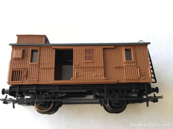 Trenes Escala: Electrotren H0 Vagón madera equipajes ref 0856. De vitrina. - Foto 5 - 210517647