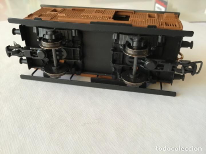 Trenes Escala: Electrotren H0 Vagón madera equipajes ref 0856. De vitrina. - Foto 7 - 210517647