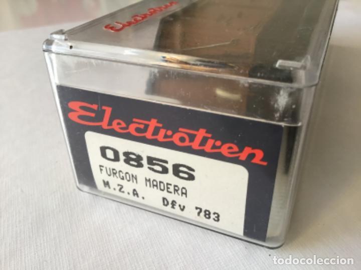Trenes Escala: Electrotren H0 Vagón madera equipajes ref 0856. De vitrina. - Foto 9 - 210517647