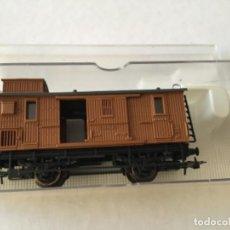 Trenes Escala: ELECTROTREN H0 VAGÓN MADERA EQUIPAJES REF 0856. DE VITRINA.. Lote 210517647