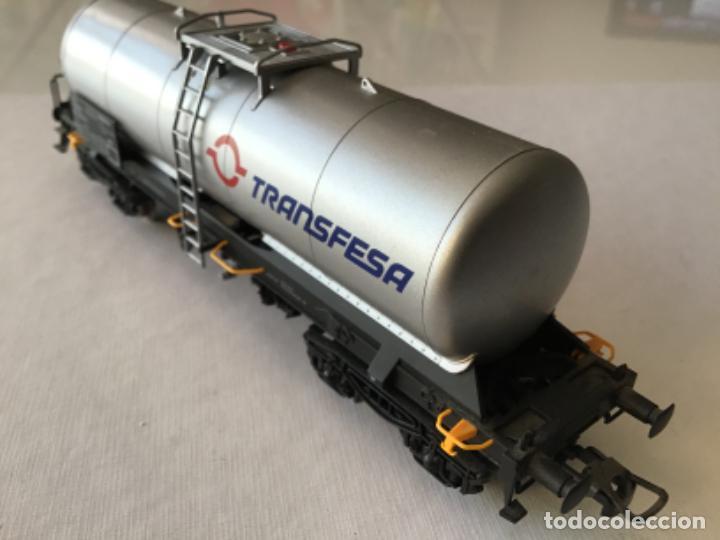 Trenes Escala: Electrotren H0. Vagón cisterna Transfesa. Nuevo - Foto 2 - 210517795