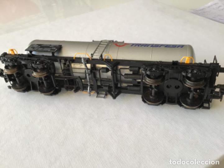 Trenes Escala: Electrotren H0. Vagón cisterna Transfesa. Nuevo - Foto 4 - 210517795
