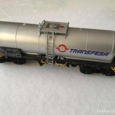 Trenes Escala: ELECTROTREN H0. VAGÓN CISTERNA TRANSFESA. NUEVO. Lote 210517795